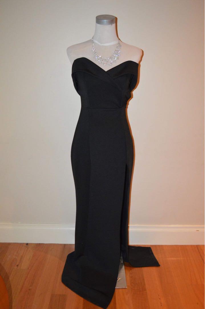 Black Offshoulder Ball Dress