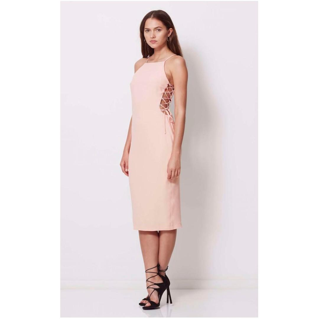 BRAND NEW Bec and Bridge Pink Ida Lace Dress RRP$400+