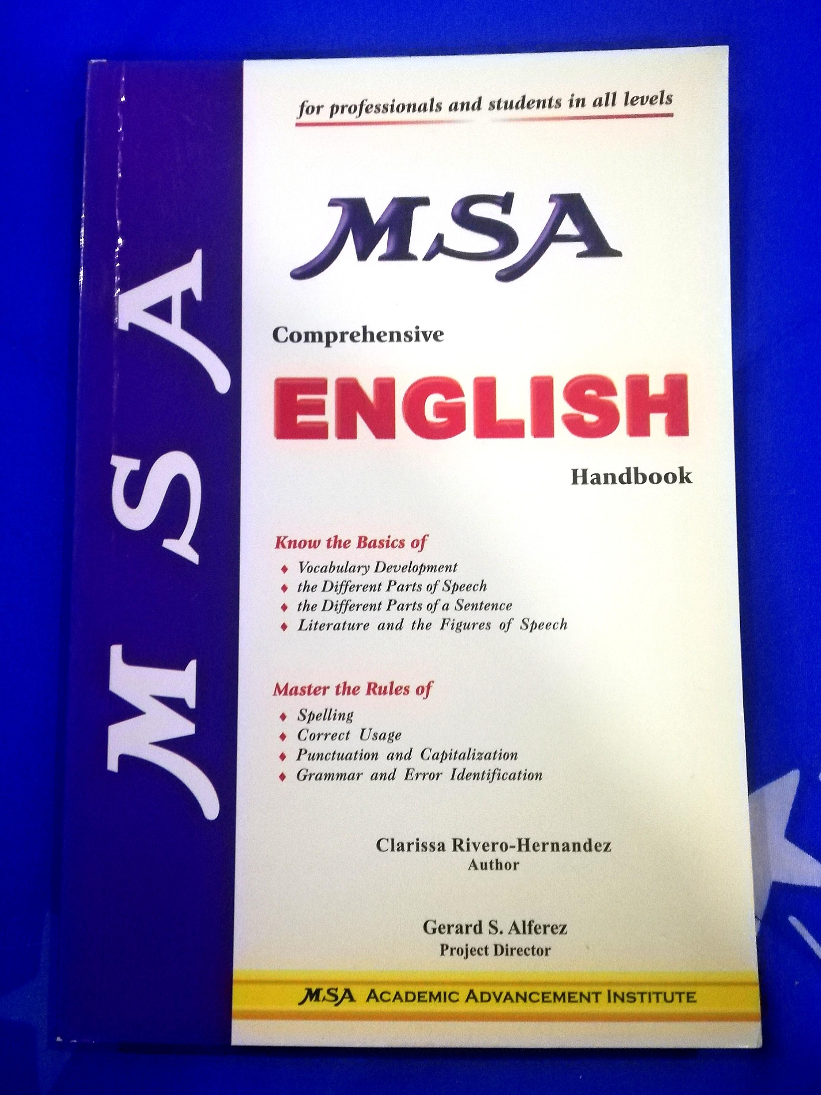 (Brand New!!) MSA Comprehensive English Handbook - for students and professionals
