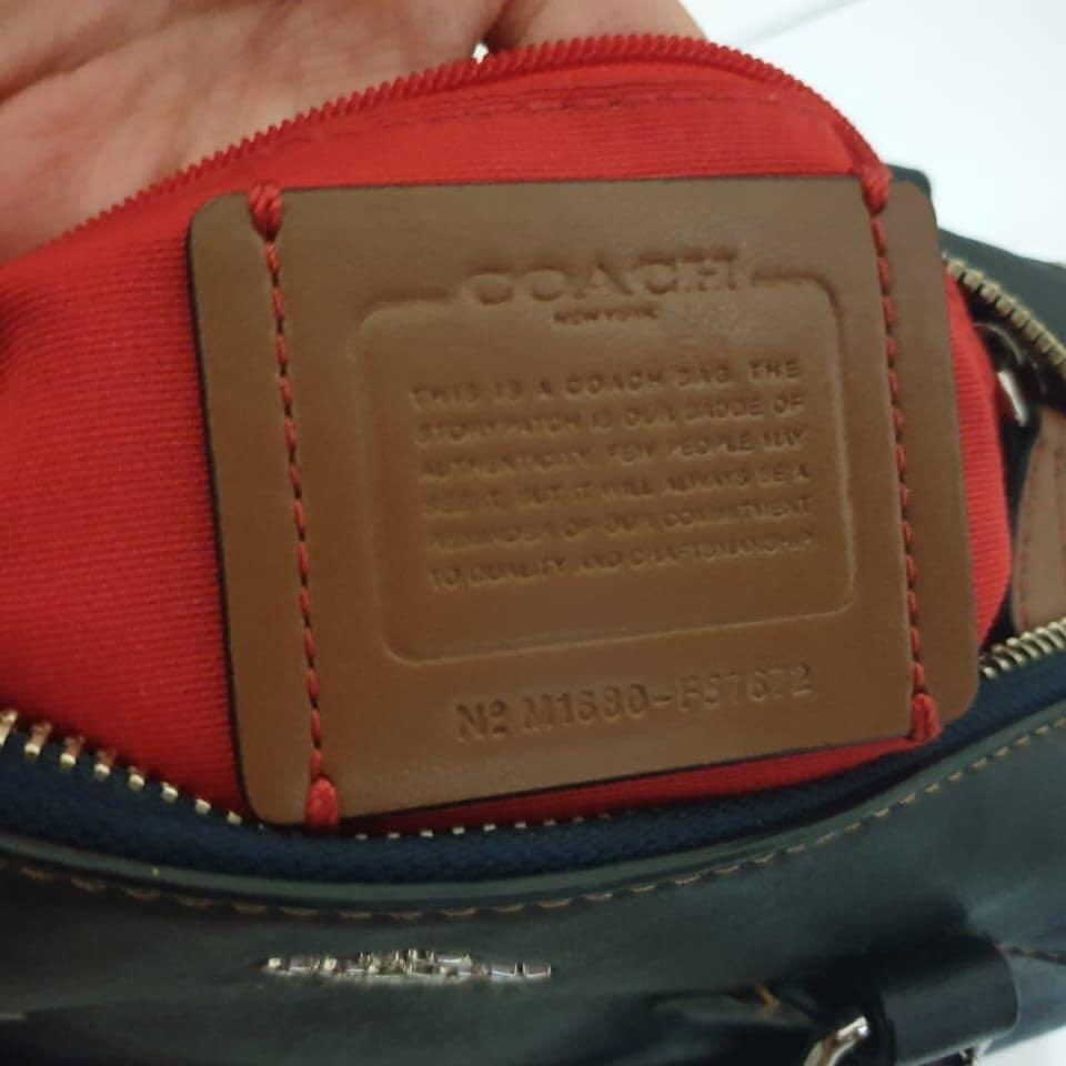 Coach Bennet drak denim red (original 100%) Like New with nomor seri & Complete sett