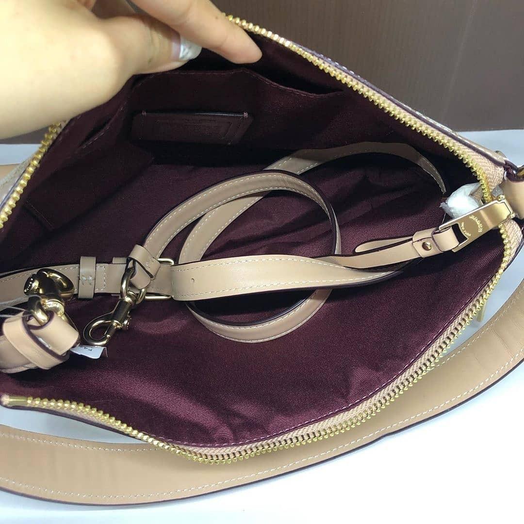 Coach F46285 Ivie small shoulder bag signature beechwood size 28 x 20 cm
