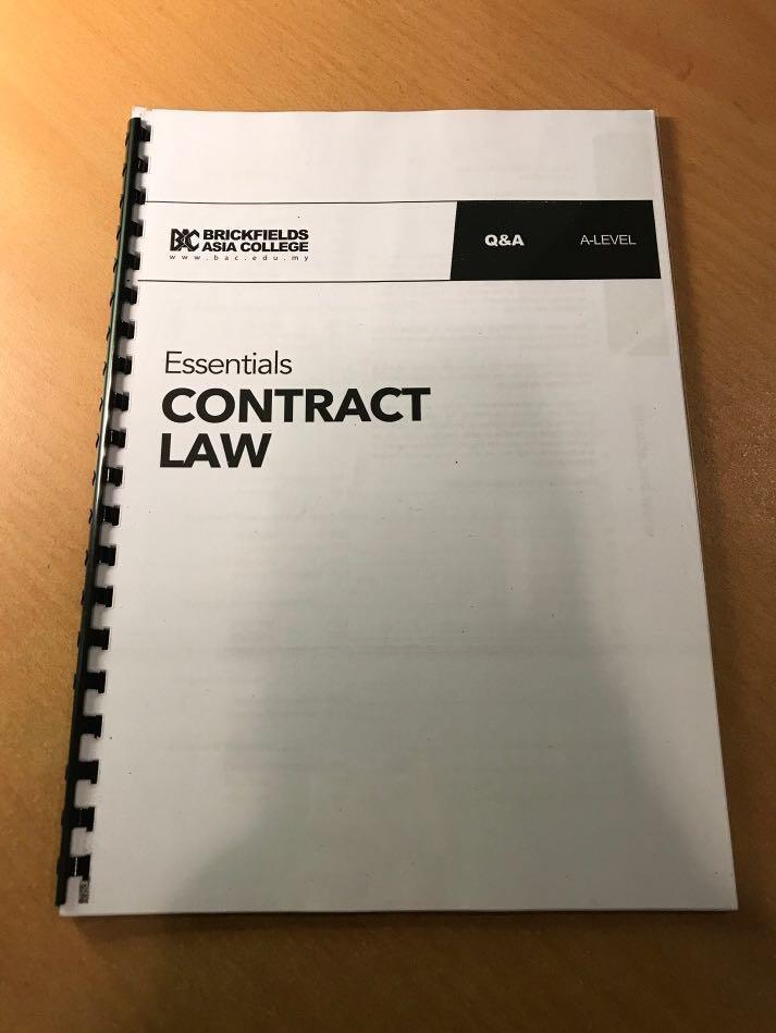 Contract Law Q&A A-Levels