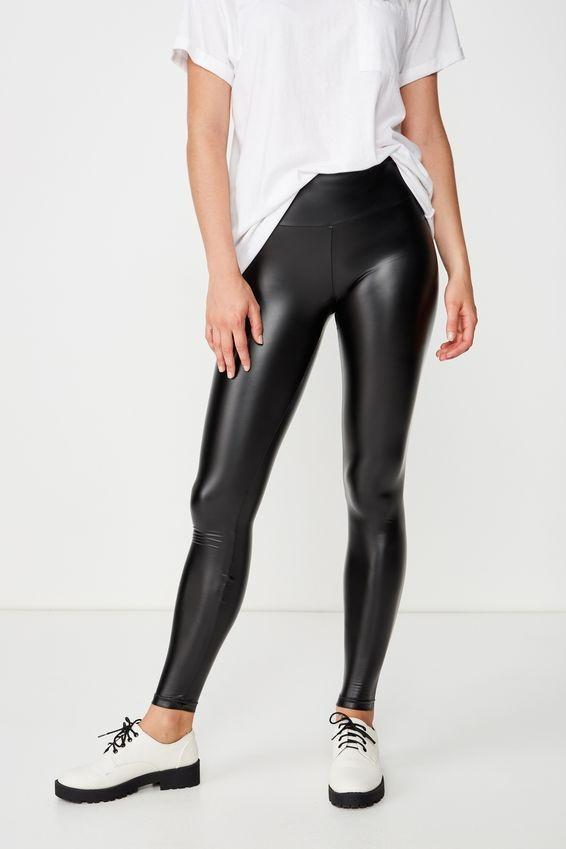 Cotton on faux leather black leggings - NEW WITH TAGS