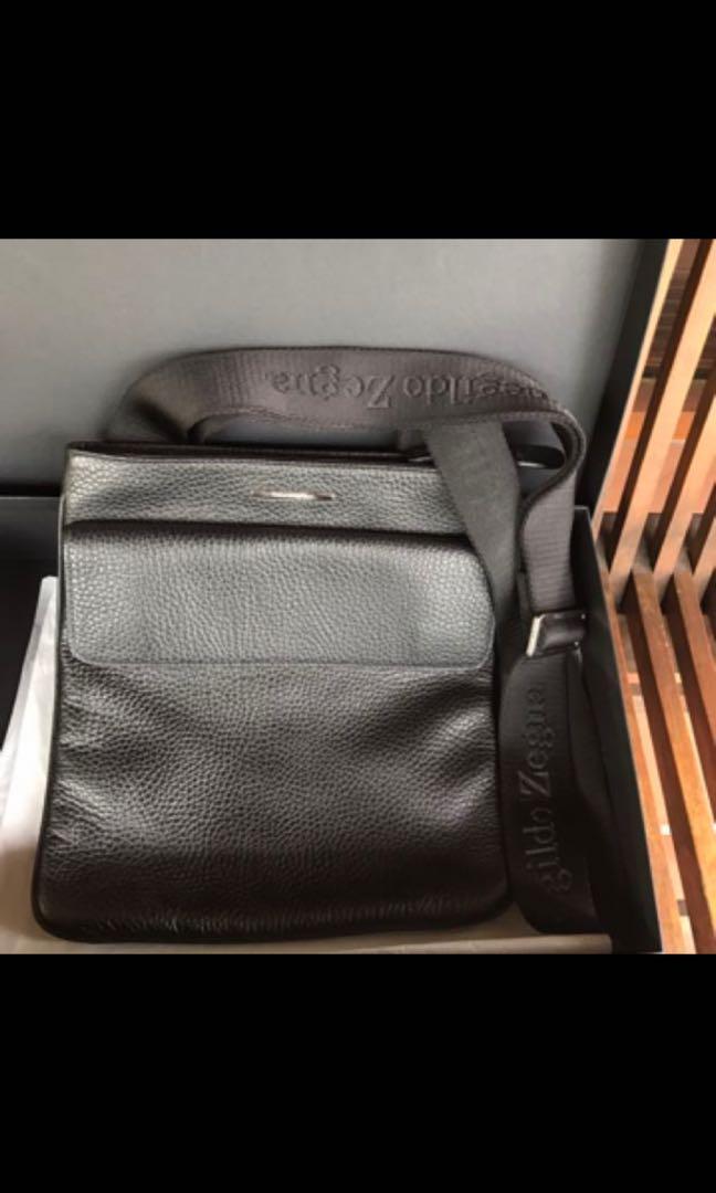 7b591b96 Ermenegildo Zegna Leather Sling Bag, Men's Fashion, Bags & Wallets ...