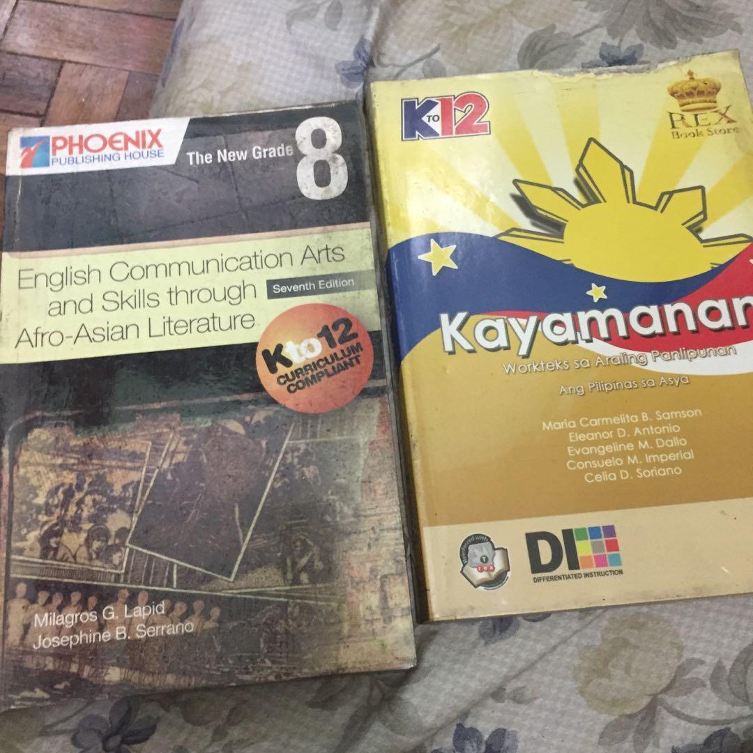 Grade eight, grade 8 English communication arts and skills through afro-asian literature & kayamanan