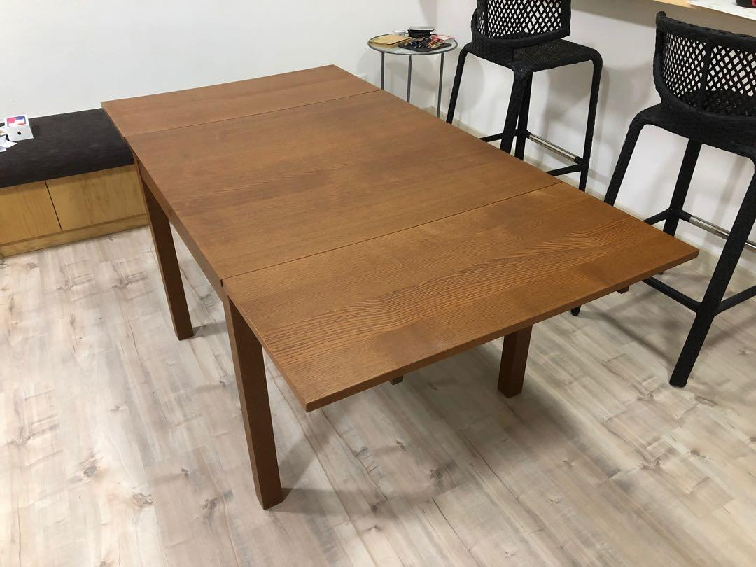 Ikea Extendable Dining Table Home Furniture Furniture On Carousell