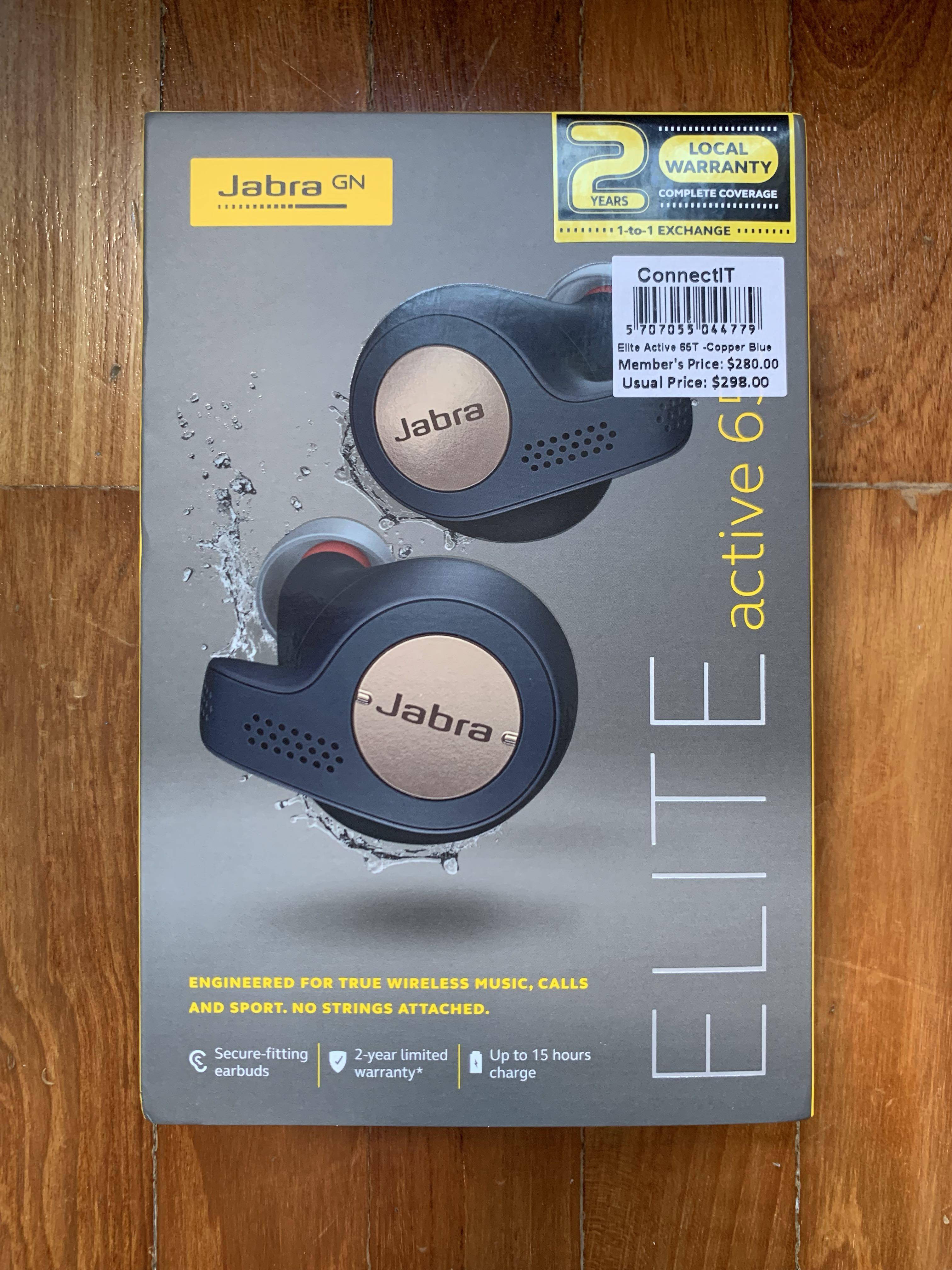 Jabra Elite Active 65t Copper Blue Electronics Audio On Carousell