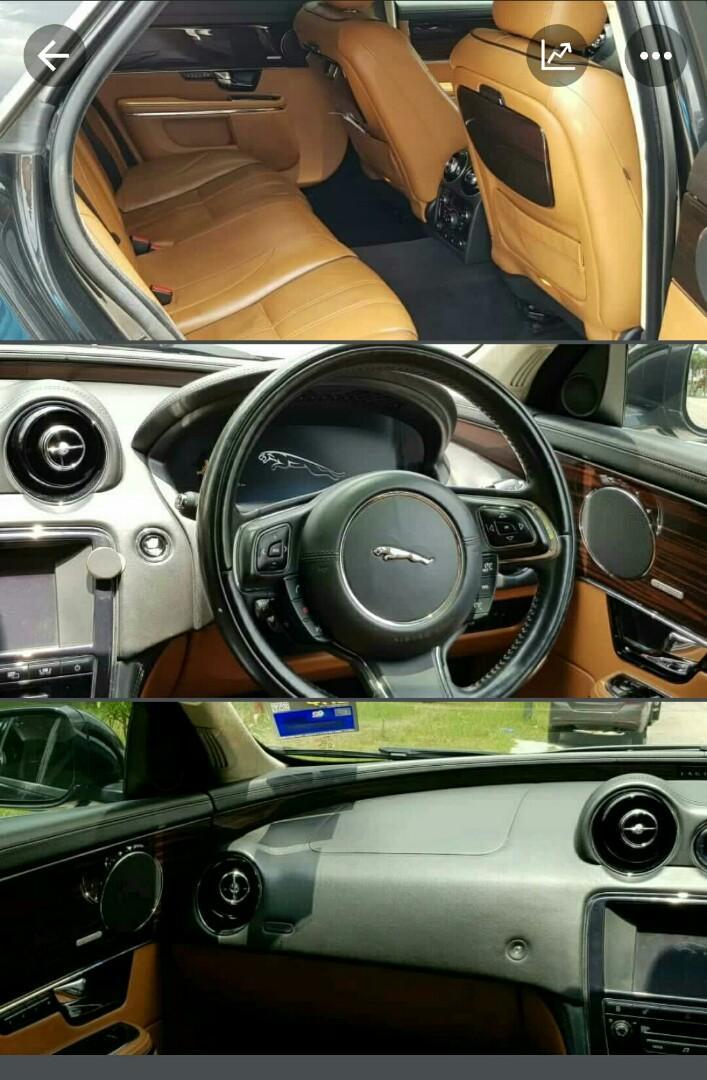 Jaguar XJL portfolio V8 engine supercharger powered