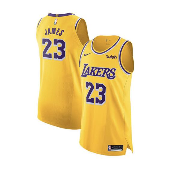 hot sale online dde79 4ced6 Lakers LeBron James Icon Edition Authentic Jersey with Wish Patch