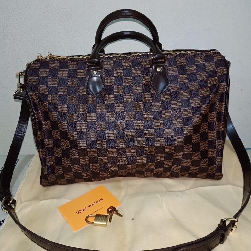 Louis Vuitton Speedy bandaouliere Orileather with serial number & Like New