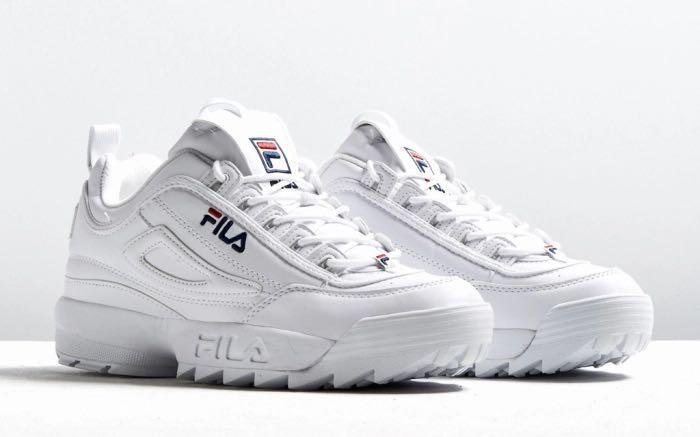 Fila disruptor 2 white shoes, Women's