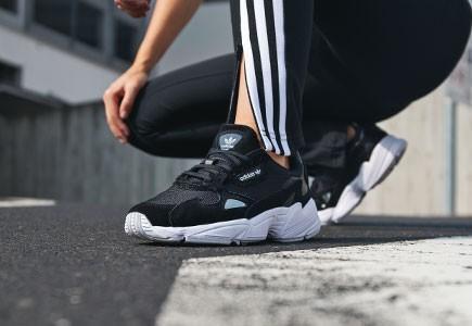 SALE!!) Adidas Falcon W Core Black & White, Women's Fashion