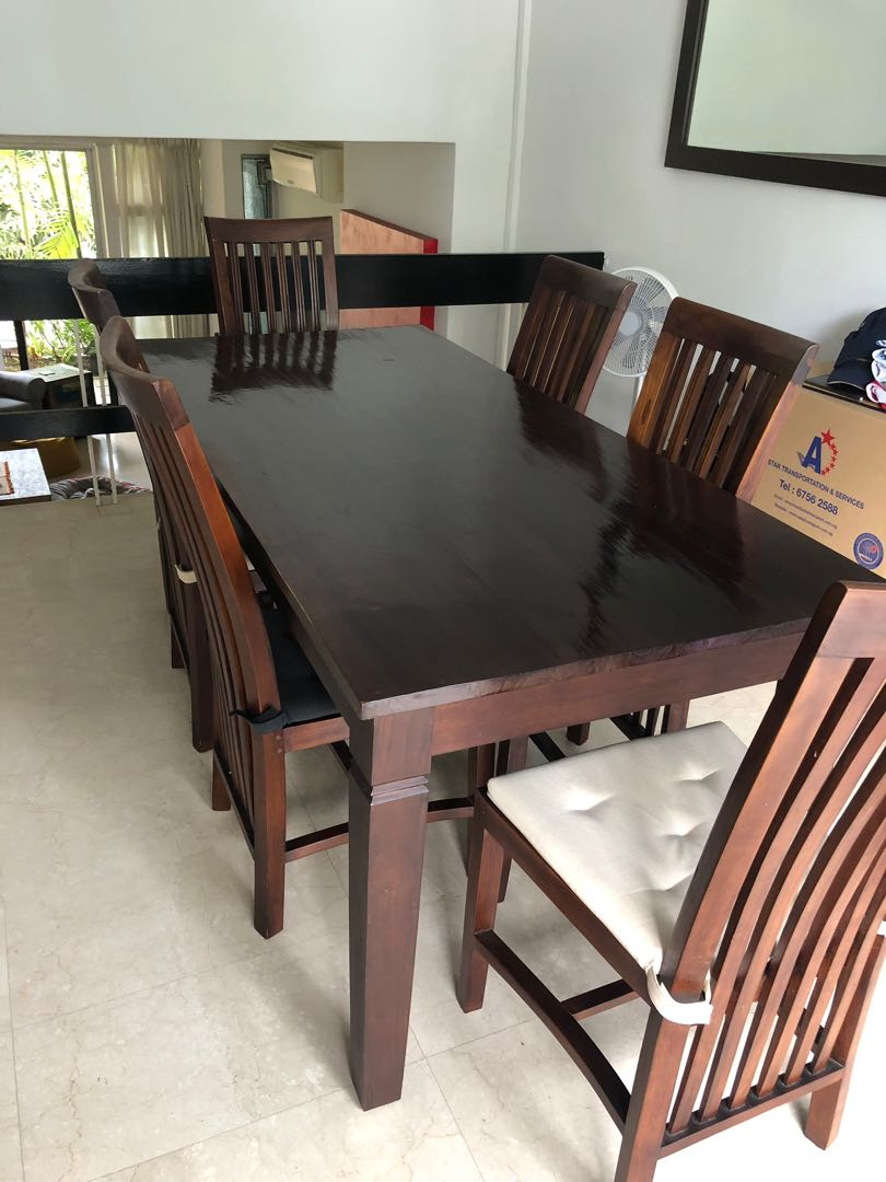 Solid Teak Dining Table And Chairs Furniture Tables Chairs On