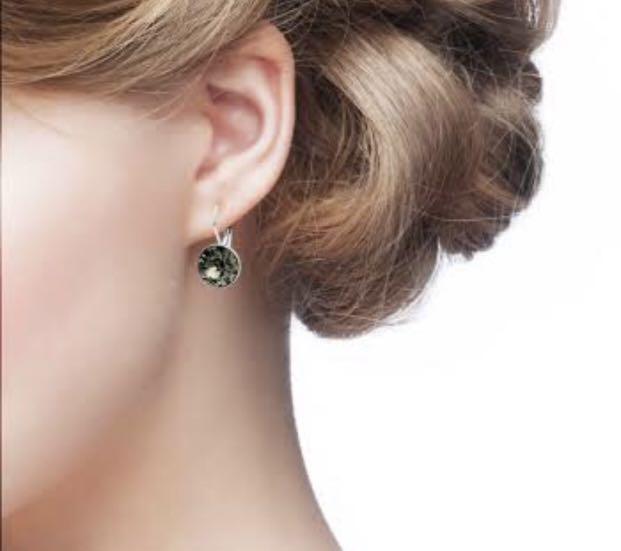 Swarovski Earrings Bella Mini Crystal Night (grey not clear)RRP $99