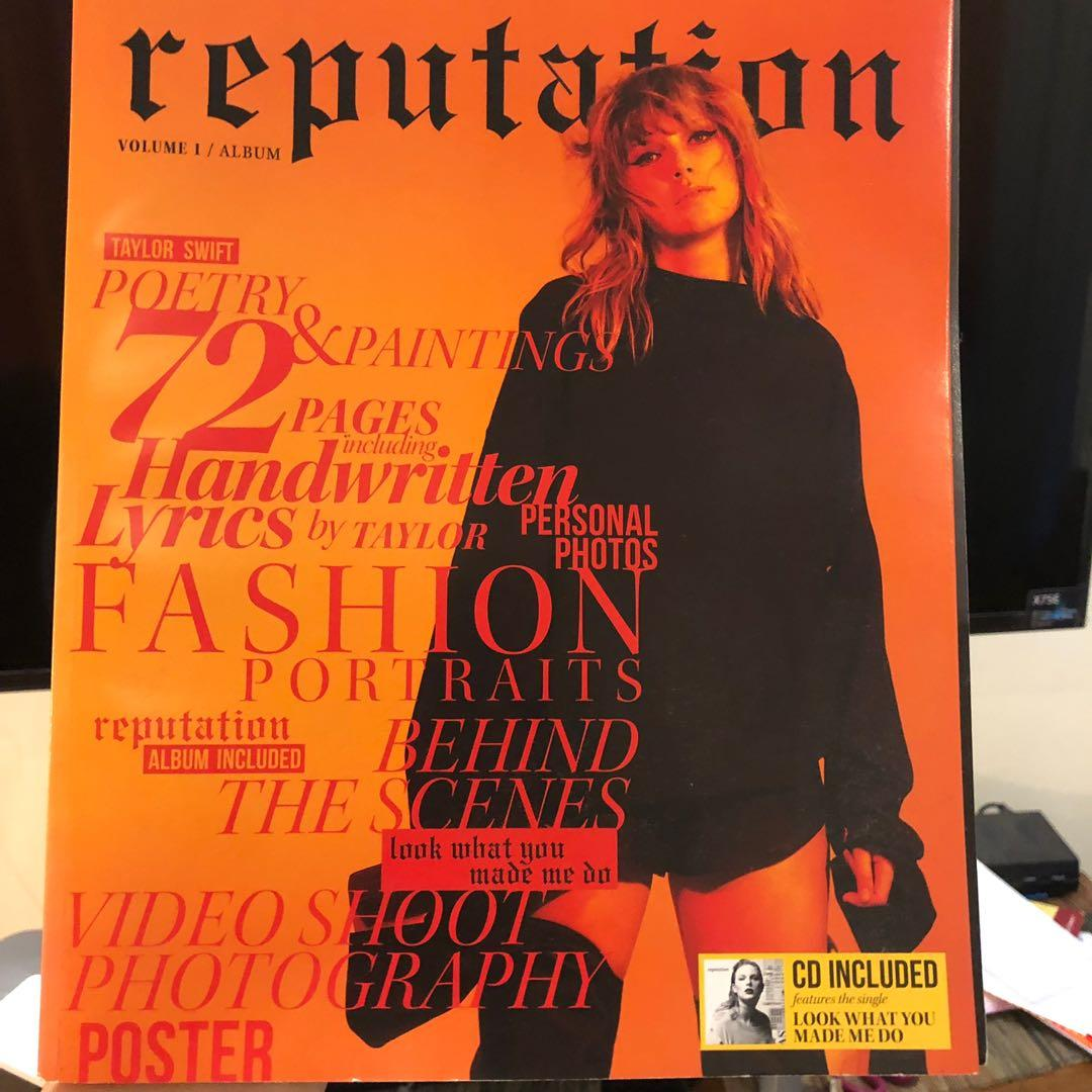 Taylor swift reputation magazine limited edition from the US with album and poster inside