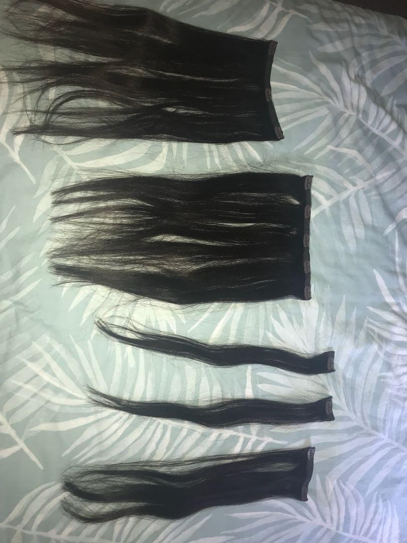 Zala Clip in Hair Extentions 5 set pieces 20 inch Shade Dark Brown