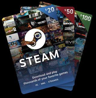 Steam wallet codes/gift cards