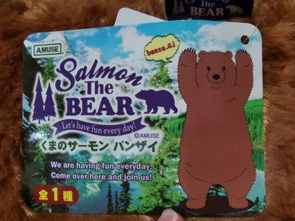 AMUSE Salmon the bear 棕熊 大隻公仔 大滿足 全新現貨 日本正版景品 夾公仔 salmon the bear