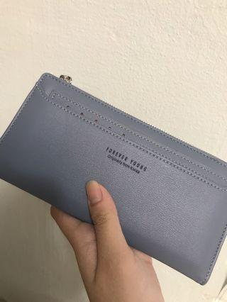 brand new blue long wallet