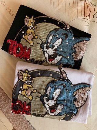 【韓國🇰🇷湯姆貓傑利鼠亮片T恤】《稀有款》