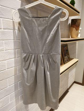Sleeveless Grey Work Dress