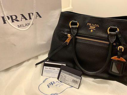 BNIB Prada leather convertible handbag for sale