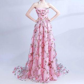 3D FLORAL MAXI DRESS (DINNER/PROM/WEDDING)