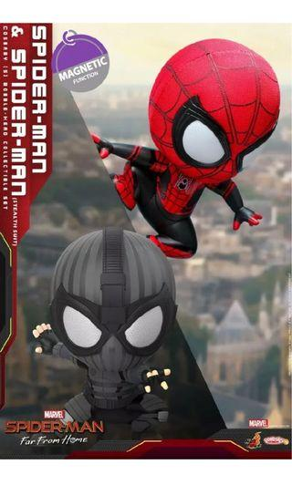 Hot Toys COSB634 Spider-Man&Spider-Man Stealth Suit Ver Cosbaby (S) Bobble-Head