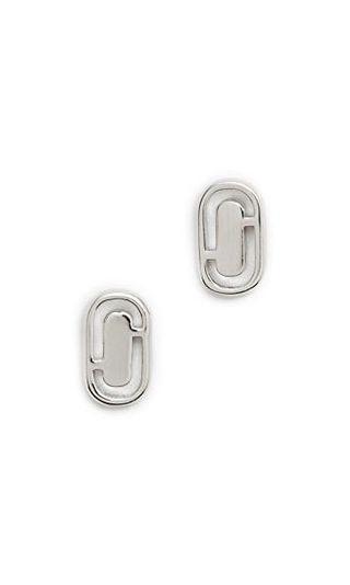 💚現貨💚 MARC JACOBS Icon Cutout Stud Earrings Silver 銀色耳環