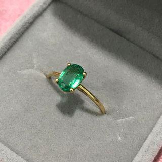 Emerald Ring 18k Yellow Gold