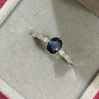 (Reduced) Blue Sapphire Ring 925 Sterling Silver