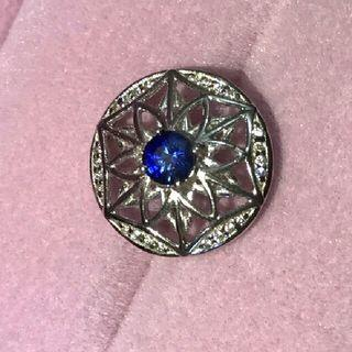 (Reduced) Blue Sapphire 3-way Pendant 925 Sterling Silver