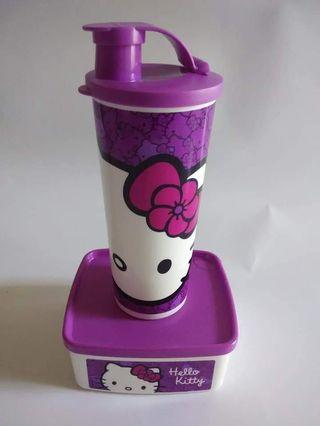 Botol Minum+ kotak makan Hello Kitty
