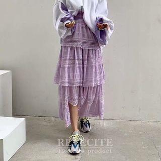 100%正韓紫色蕾絲裙