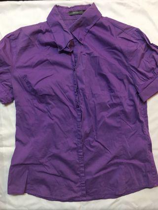 🚚 G2000紫色短袖襯衫
