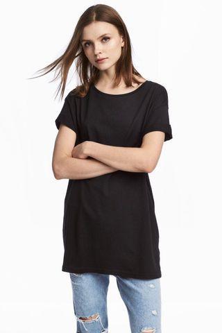 H&M hnm kaos shirt black hitam