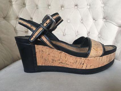Prada cork platform sandals 36