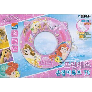 🚚 (Free Delivery) Korea Disney Princess 75cm Large Inflatable Swimming Ring Float with Handle