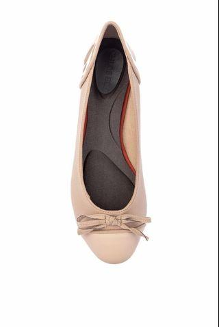 059a87818a59 Foldable Ballet Shoes with Padded Insole with Cap Toe Bow Flats