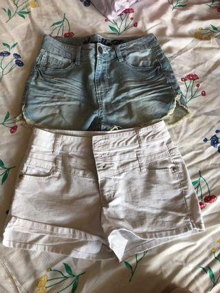 Jean shorts size 0 and 1