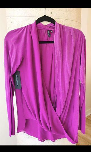 NWT Mendocino Long Sleeve Dress Top Size Small