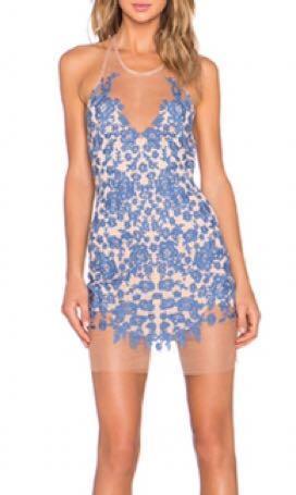 For Love & Lemons Luau Halter Dress (Size XS)