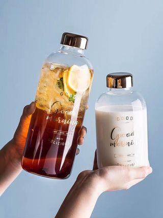 摩登玻璃隨身杯 便攜帶 家用大容量果汁杯 花果茶(送杯袋)