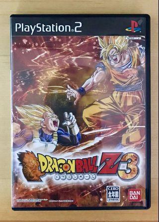 原裝 日版 PS2 遊戲 DragonBall 龍珠Z 3 Playstation 2 Game NTSC J NAMCO日本 Japan 動作 Action