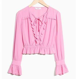 And Other Stories Pink Blouse