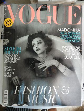 Madonna British Vogue UK edition