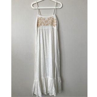Tree of Life Embroidered Maxi Dress