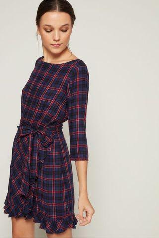 Gap Plaid Wrap Dress