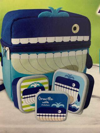 Lunch Bag With Container Set (Whale)