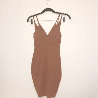 Nude Pink Fitted Dress #SwapCA